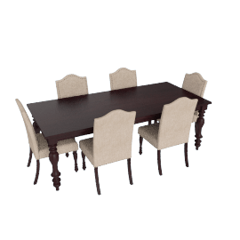 Century 7-Piece Extendable Dining Table Set