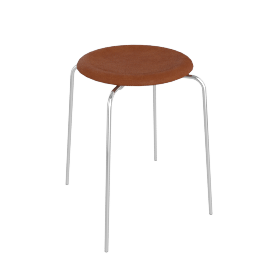 Dot Stool, Walnut Elegance