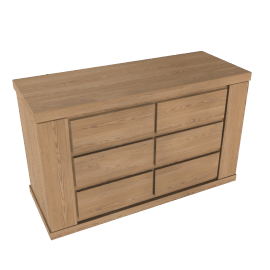 Keep Oak 6 Drawer Wide Chest, Oak