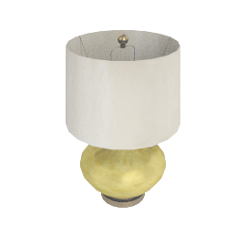 Almach Glass Table Lamp-61Cmh - Gold