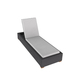 Ollie Chaise Longue w/ Storage - Pearl.Grey