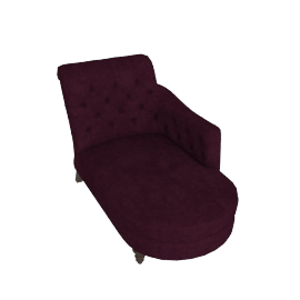 Hayworth RHF Chaise Longue, Ruben Blackberry