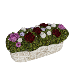 Bryony Roses and Lakspure Creeper Planter 40 cms