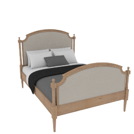 Etienne Louis High End Bedstead, Double