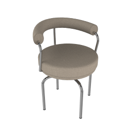 Outdoor LC7 Swivel Chair - Taupe