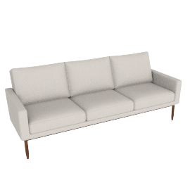 Raleigh Sofa - Slubby Weave, Ivory