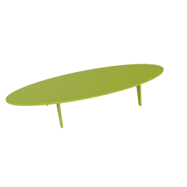 Bolinas Surfboard Coffee Table, Leaf