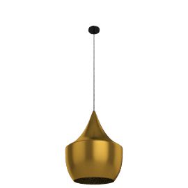 Beat Fat Pendant, Brushed Brass