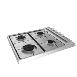 Zanussi ZGL62ITX Gas Hob, Stainless Steel