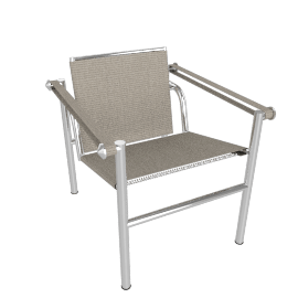 Outdoor LC1 Sling Chair - Taupe