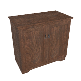 Hostess Trolley, HL6242, Antiqued Oak
