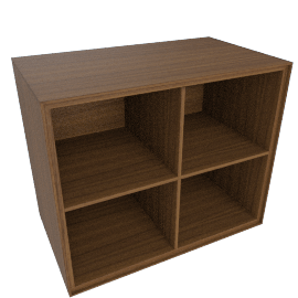 Forma Large Box with Cross, Walnut