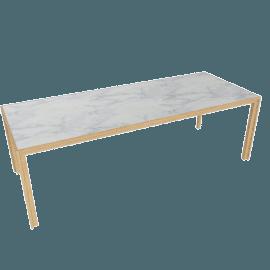 Doubleframe Table 92 x 36, Carrara/Oak