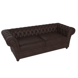 Ascot 3 Seater Brown