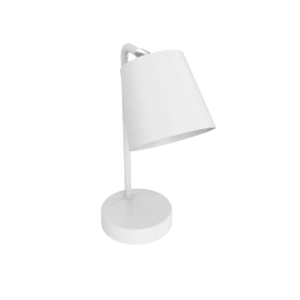 White Metal Table Lamp 3 Pin