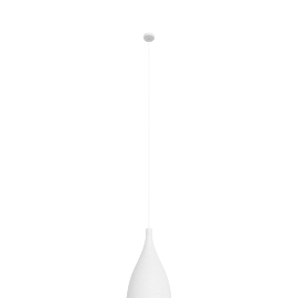 Swell Narrow LED Pendant, White / Brass