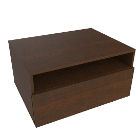 Zola Bedside Table - Wenge
