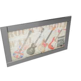 Dream Music Mirror Framed Picture