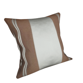 Regency Stripe Cushion, Chocolate