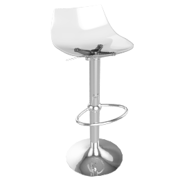 Led Bar Stool, Clear