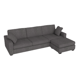 Tom Sofa Bed, Right Hand Facing, Anthracite