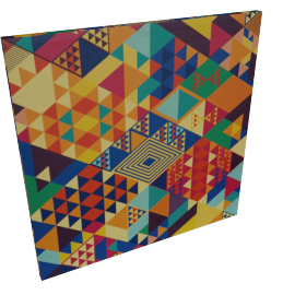 Origami Canvas Print Wall Art - 80x3x80 cms