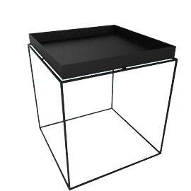 Tray Side Table, Black