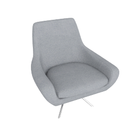 Noomi Swivel Chair, Silver