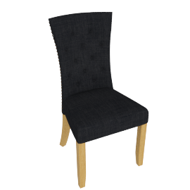 Eden Dining Chair, Black