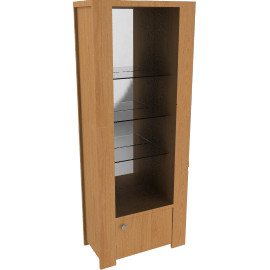 Strata Tall Wall Unit, Oak