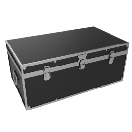 Fortified Steamer Trunk, Black
