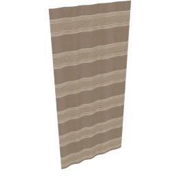 Detroit Eyelet Curtains, Coffee, W165 x Drop 136cm