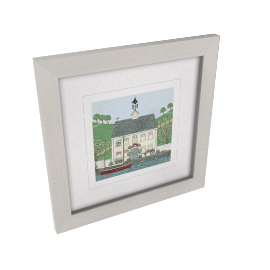 Sally Swannell - Captain's House Framed Print, 37 x 37cm