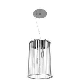 Chiara Crystal Rods Ceiling Pendant, 6 Light