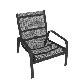 Stack High-Back Lounge Chair, Anthracite
