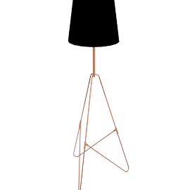 Albus Twist Floor Lamp, Black