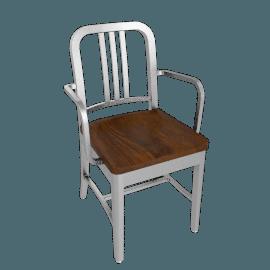 1006 Navy® Armchair w/ Wood Seat