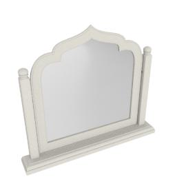 Taj Vanity Mirror-Pearl Bge/Ant.Silver