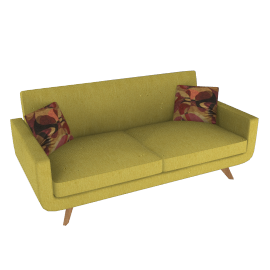 Large Sofa, Cossette Green