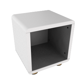 Mini Malibu Bedside Table, White