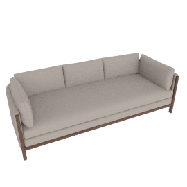 Emmy Sofa, Kalahari Leather - Grey