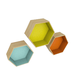 Windsor Hex - Set of 3
