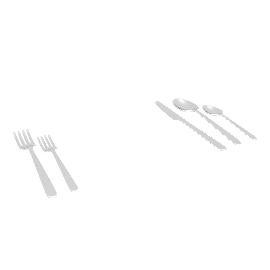 Almoco Silver Flatware (5-Piece Setting)
