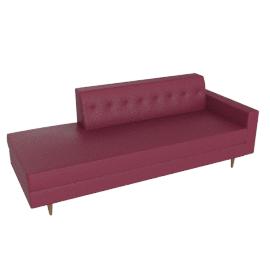 Bantam Studio Sofa in leather, Cranberry