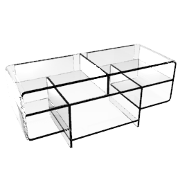 Ice TV Unit, Clear