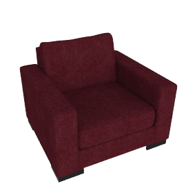 Signature Armchair, Bordeaux