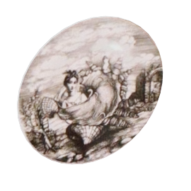 the oceanidi plates, set of 6 by fornasetti