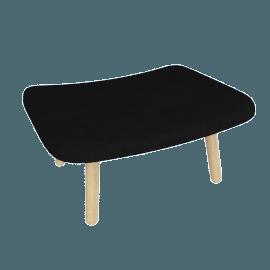 About A Lounge 03 Ottoman, CA 5001 Black / Oak