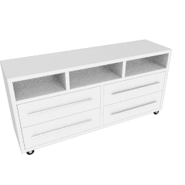 Basement Home Rack Urban I Blanco 4 Cajones