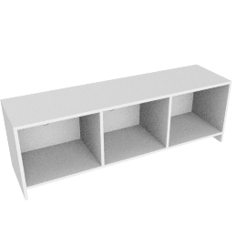 Oxford 3 x 1 Unit, White